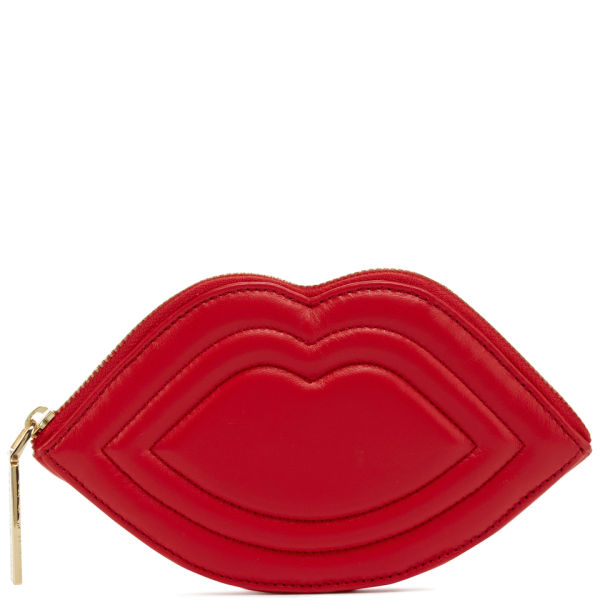 Lulu Guinness Women's Medium Lips Quilted Nappa Leather Purse - Red