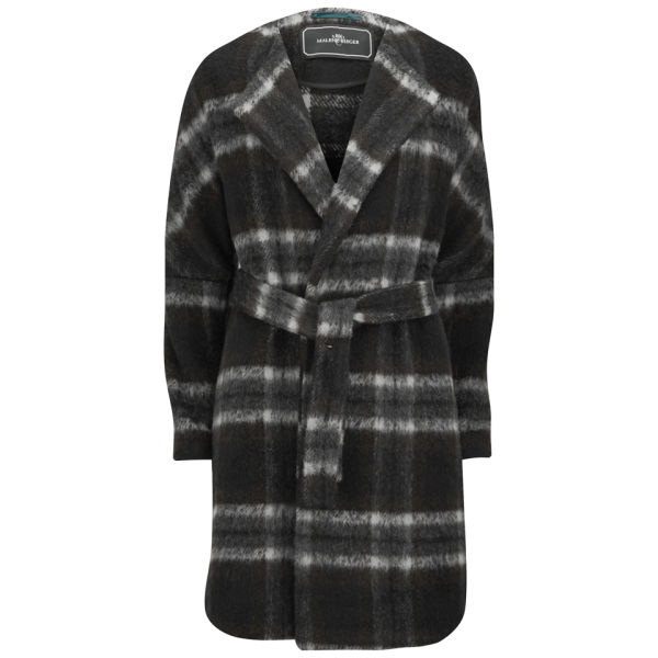 By Malene Birger Women's Checked Belted Coat - Charcoal