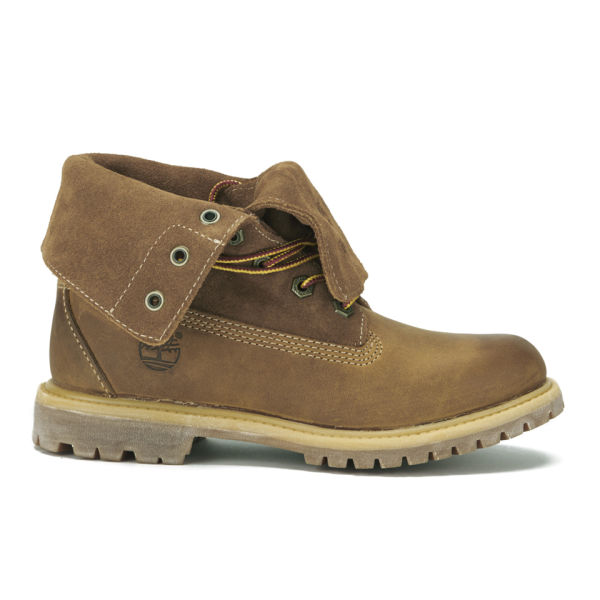 Timberland Women's Earthkeepers Authentics Fold Over Boots - Wheat