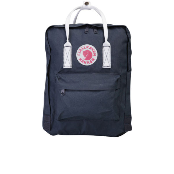Fjallraven Kanken Backpack NavyWhite Free UK Delivery