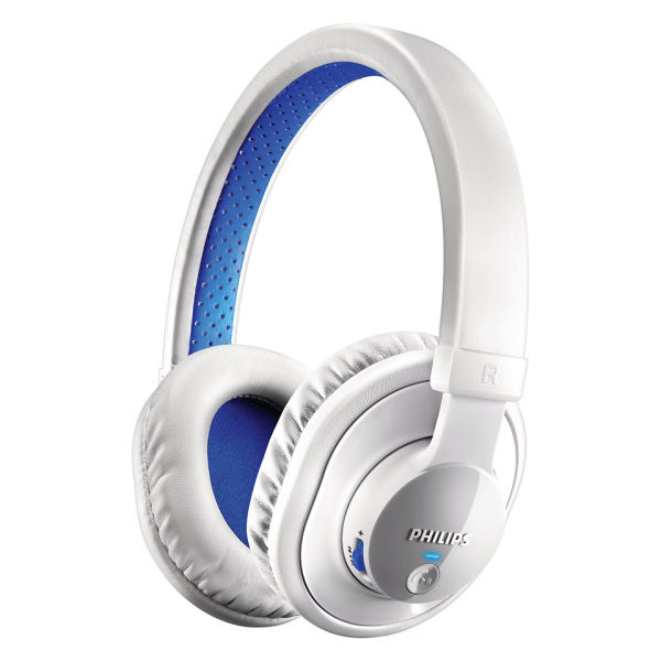 Philips SHB7000WT Bluetooth Stereo Headphones - White/Blue