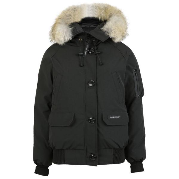 black canada goose bomber jacket
