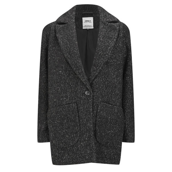 ONLY Women's Picadelly Wool Box Coat - Boucle