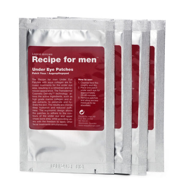 Parches antiojeras de Recipe For Men, 4 unidades