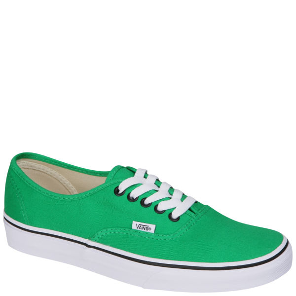 Vans Authentic Canvas Trainers - Bright Green/Black