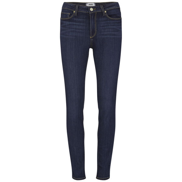 Paige Women's Hoxton High Rise Vista Transcend Skinny Jeans - Mid Blue