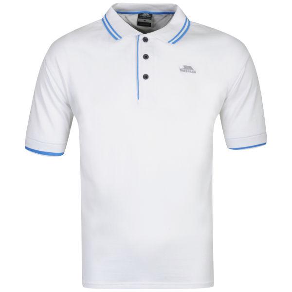 Trespass Men 39 S Filter Polo Shirt White Sports Leisure