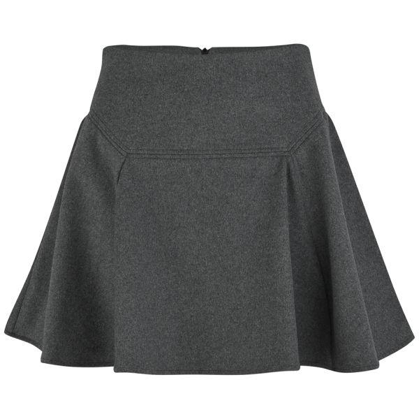 Surface to Air Women's Siri Flannel Skater Skirt - Dark Grey