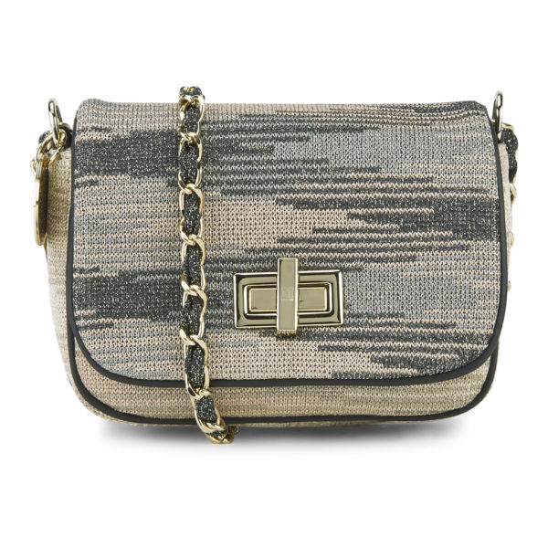 M Missoni Women's Textured Cyber Lurex Cross Body Bag - Cipria