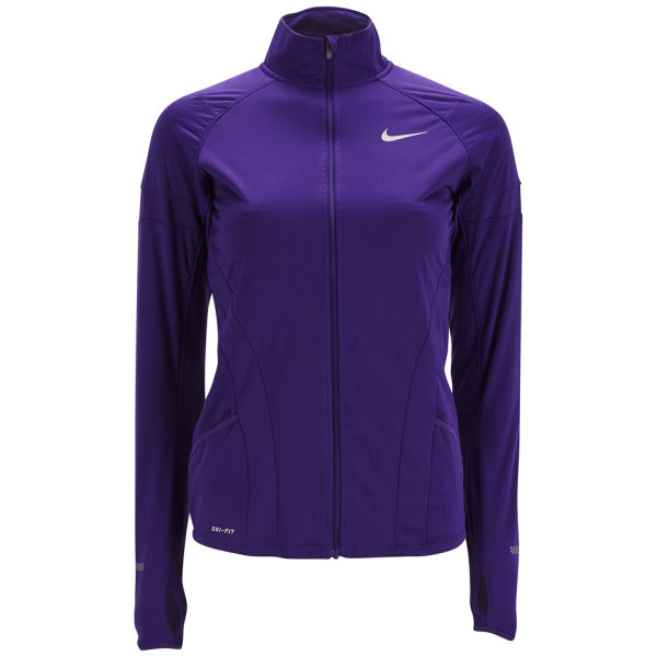 nike womens running jacket purple and teal jacket