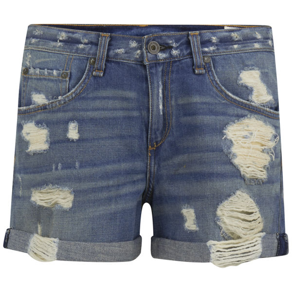 rag & bone Women's Boyfriend Denim Shorts - Obispo Rebel