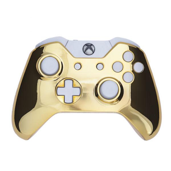 xbox one wireless custom controller chrome gold white