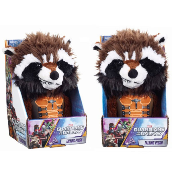 Peluche Interactive Medium Rocket Raccoon - Les Gardiens de la Galaxie Marvel