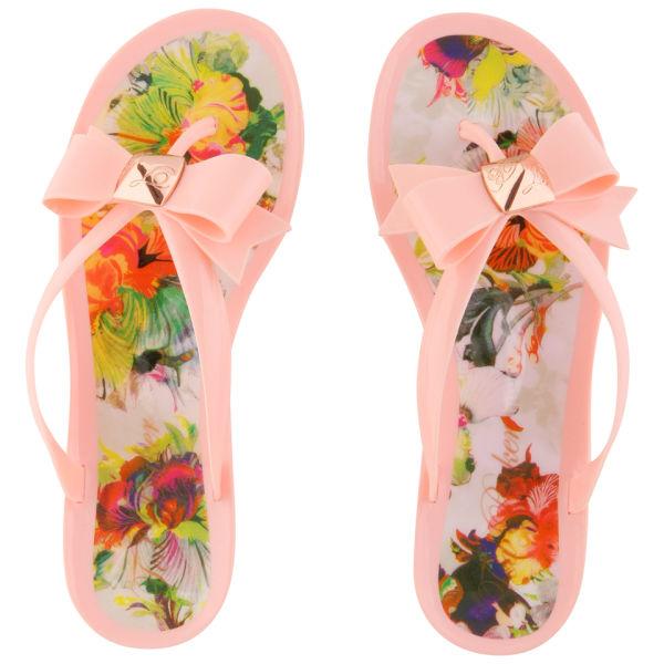 de1683d98f76a8 Ted Baker Women s Polee Bow Detail Flip Flops - Pink Multicoloured  Image 4