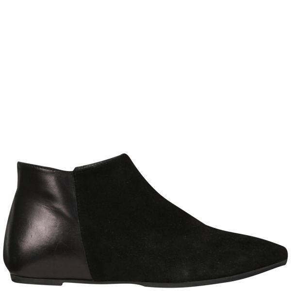 Just Ballerinas Women's Suede Shoe Boots - Black