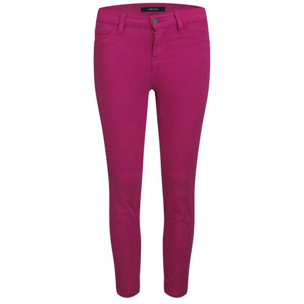 J Brand Women's Mid-Rise Sateen Capri Pants - Wildflower