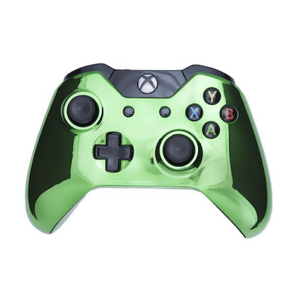 Xbox One Wireless Custom Controller - Chrome Green Games ...