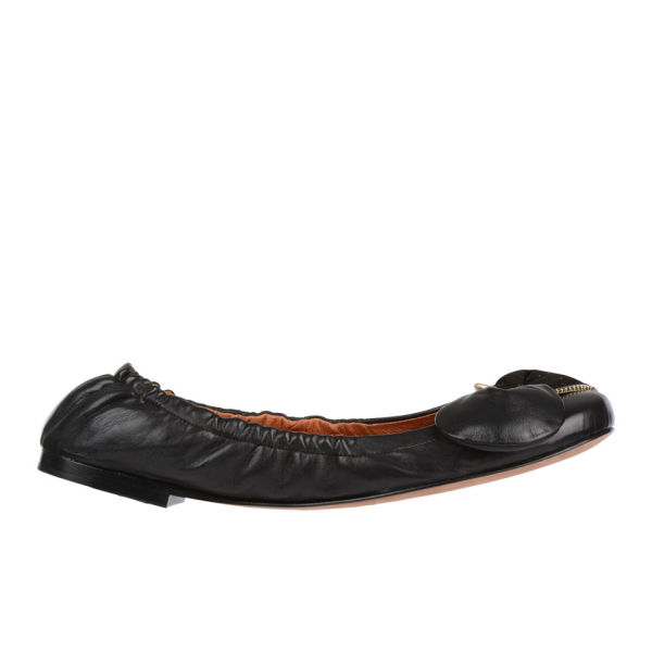 See By Chloé Women's Clara Leather Ballet Pumps - Black