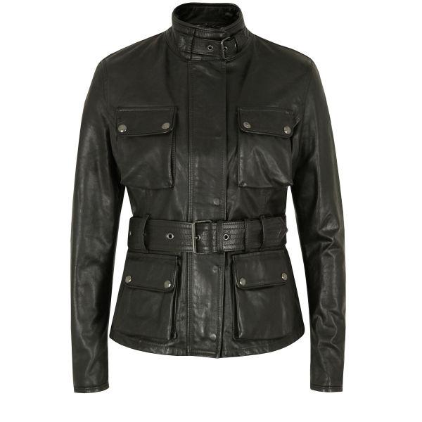 Belstaff Women's Triumph Antique Leather Jacket - Black: Image 1