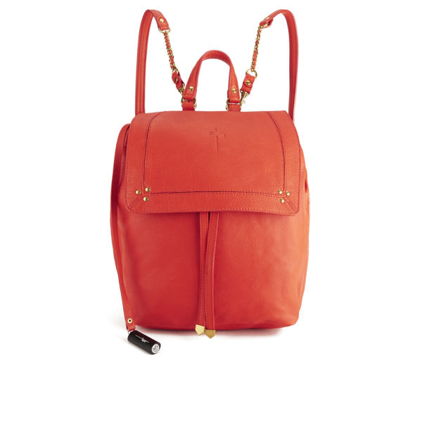 Jerome Dreyfuss Women's Florent Rouge Calfskin Leather Backpack ...