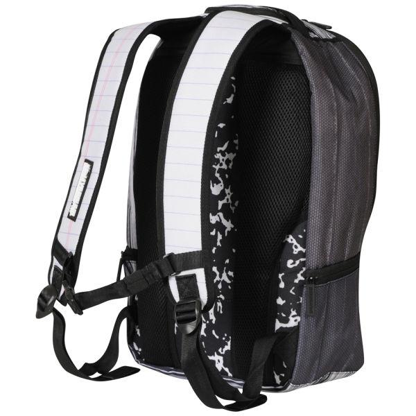 Sprayground Composition Deluxe Backpack Black White Mens