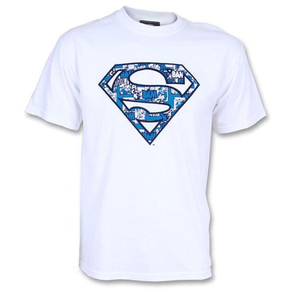 DC Comics Men's Superman Cosmic Logo T-Shirt - White