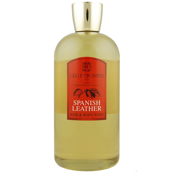Geo. F. Trumper Travel Spanish Leather Hair and Body Wash 500ml