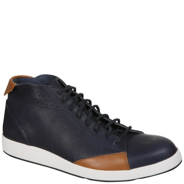 Ohw? Men's Shaka Full Grain Leather Lace up Boots - Wheat/Navy