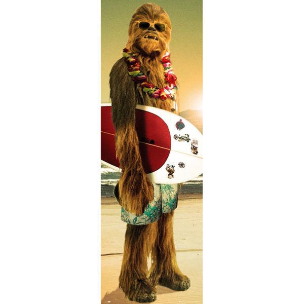 Star Wars Chewie Surf Door Poster 53 X 158cm