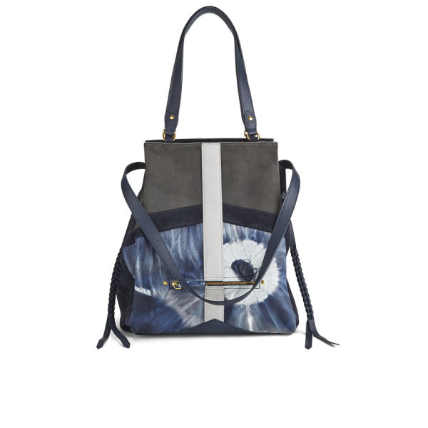 Jerome Dreyfuss Women's Anatole Large Tie Dye Patchwork Tote Bag - Blue