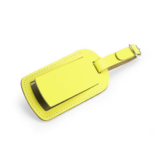 3d7863135ba4 Undercover Recycled Leather Luggage Tag - Lemon: Image 1
