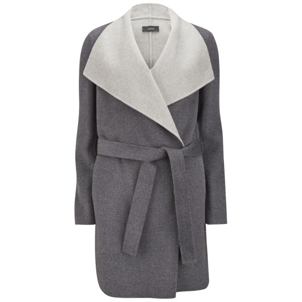 Joseph Women's Lisa Long Double Cashmere Belted Coat - Grey