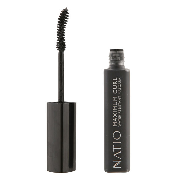 Natio Maximum Curl Water Resistant Mascara - Blackest Black (.33 oz.)