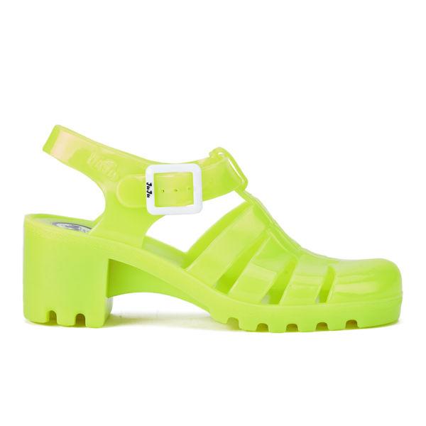 JuJu Women's Babe Heeled Jelly Sandals - Fluro Yellow