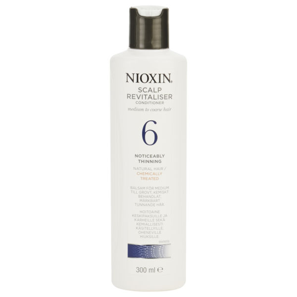 NIOXIN System 6 Scalp Revitaliser for Noticeably Thinning, Medium to Coarse, Natural, Chemically Treated Hair (300ml)