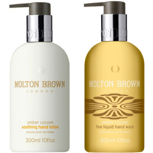 Molton Brown Amber Cocoon Liquid Hand Wash & Hand Lotion ...