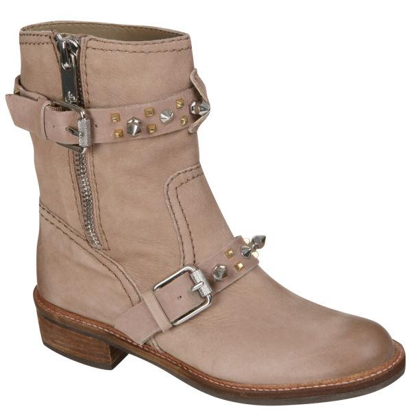 Sam Edelman Women's Adele Studded Biker Boots - Beach Leather
