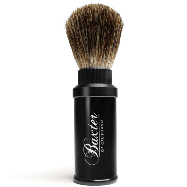 Baxter of California Pure Badger Hair Travel Aluminium Shave Brush