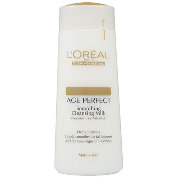 L'Oreal Paris Dermo Expertise Age Perfect Smoothing Cleansing Milk -  Mature Skin (200ml)
