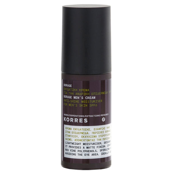 KORRES Borage Anti-Shine Men's Moisturiser Cream 50 ml