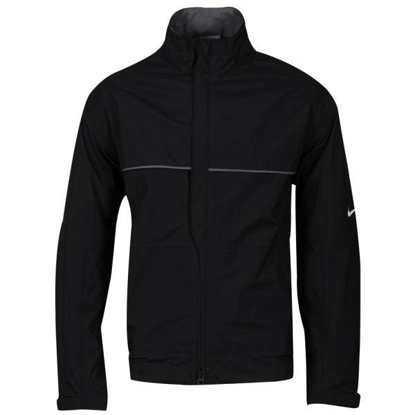 Nike Mens Veste De Course - Noir Et Blanc