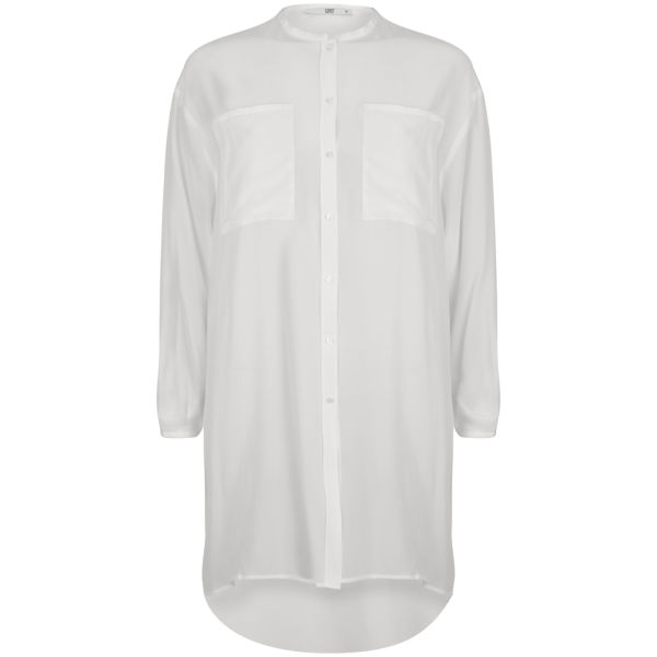 D.EFECT Women's Burnett Winter Silk Shirt - White