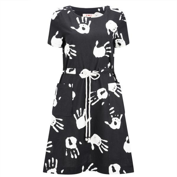 YMC Women's Hand Print Dress - Black/White