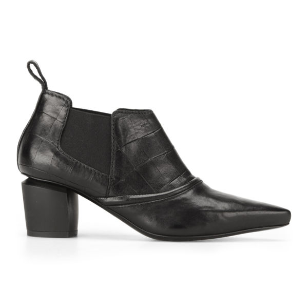 McQ Alexander McQueen Women's Liv Cut Out Leather Ankle Boots - Black
