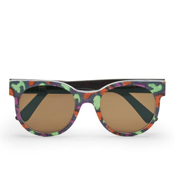 ZANZAN ZZ2 Women's Avida Dollars Sunglasses - Animal and Black