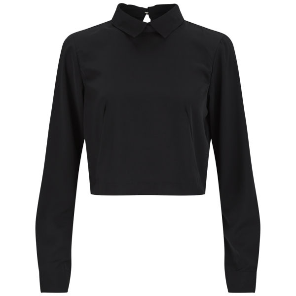 Vero Moda Women's Collared Top - Black
