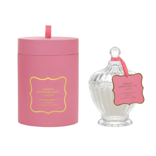 Urban Apothecary Strawberries and Cream Luxury White Candle (140g)