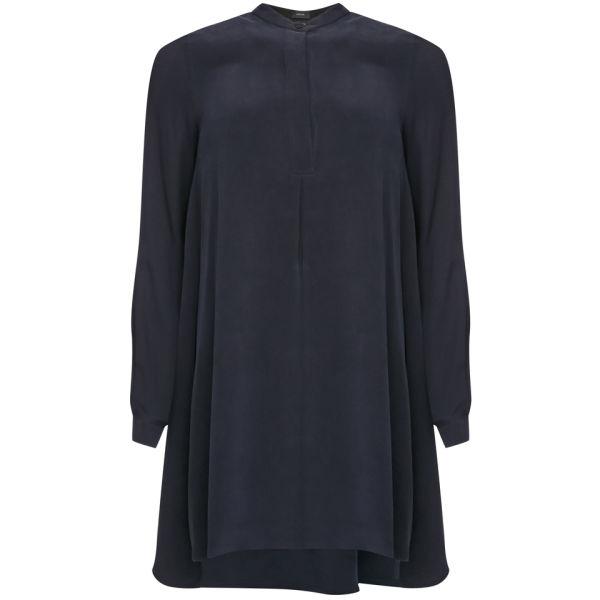 Joseph Women's Clue Matt Silk Dress - Midnight Blue