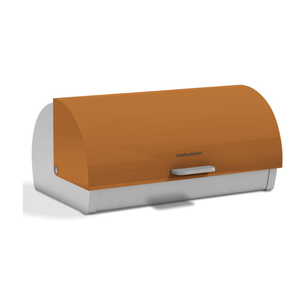 morphy richards accents roll top bread bin orange iwoot. Black Bedroom Furniture Sets. Home Design Ideas