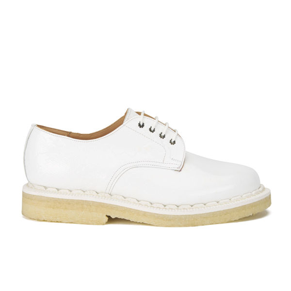 Purified Women's Penny 1 Patent Python Leather Brogues - White Python Patent
